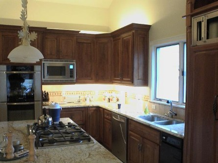 Kitchen with Recessed Lighting in St. Louis, MO